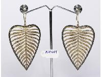 Antique Style Leaf Shaped Earrings