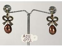 Antique Style Bow Shaped Earrings