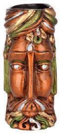 Terracotta King Face Vase