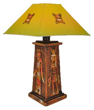 RURALSHADES Terracotta Hand Painted Egyptian Decorative Table Lamp Handicraft