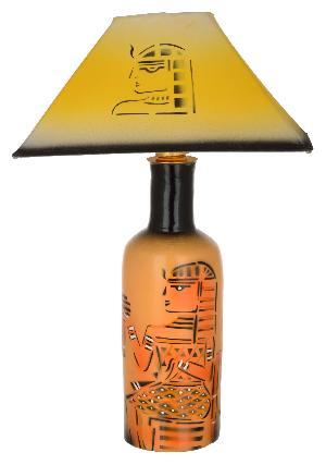 RURALSHADES Terracotta Hand Painted Egyptian Mummy Botttle Table Lamp Handicraft
