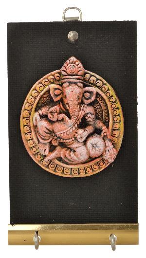 RURALSHADES Terracotta Mat finish Ganesha Key Holder