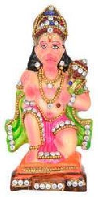 Terracotta Kundan Studded Hanuman Statues
