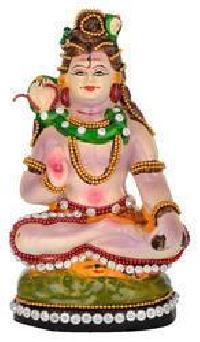 Terracotta Kundan Studded Shiva Statues