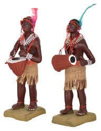 Terracotta Tribal Man Statues
