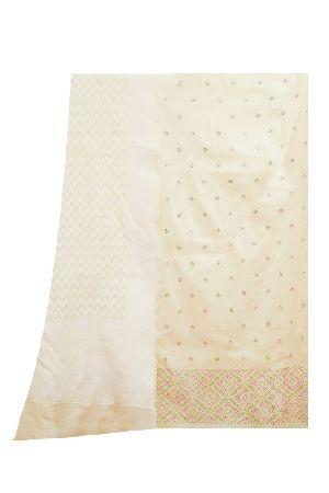 Cream Chanderi Cotton Suit Dupatta