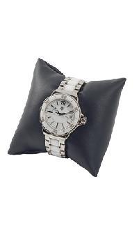 Black Leatherette Jewelry Pillow