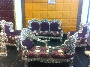 Silver Plated Sofa Set