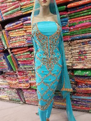 Designer Embroidered Unstitched Suits