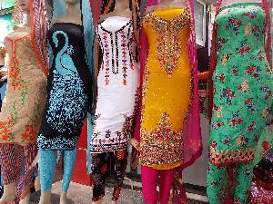 Punjabi Hand Work Unstitched Suits