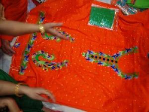 Pure Thread Work Embroidered Unstitched Suits