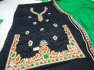 U Cut Embroidered Unstitched Suits