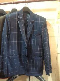 Mens Blue Check Blazer