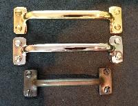 Solid Brass Window Sash Lift Handles, Bar Style