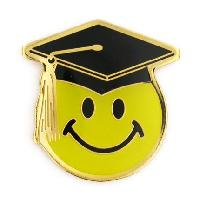 Smile Face Graduation Pin