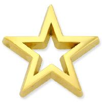 Star - Gold 3-D Cut-Out Pin