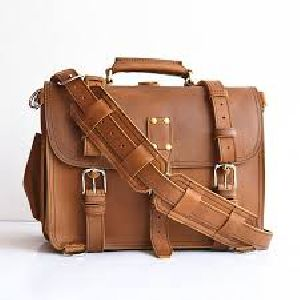 Light Brown Corporate Leather Briefcase