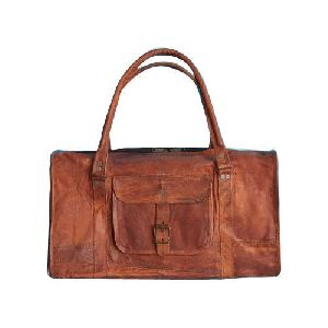 Zipper Leather Duffle Bags