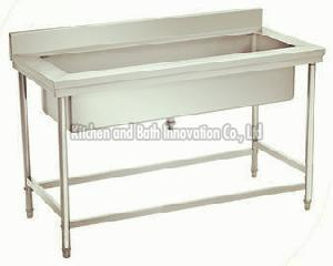 All stainless steel kitchen table sink-KBTSS9065