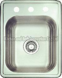 KBTS1722 Stainless Steel Topmount Single Bowl Sink