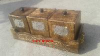 Wooden Vintage Kitchen Three Box Container Set