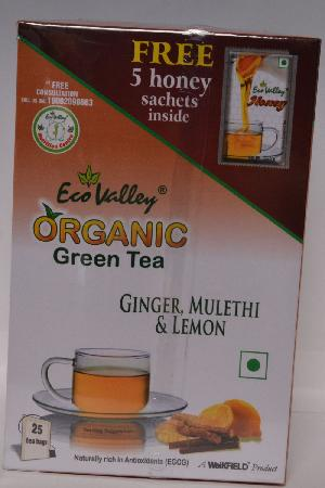 Organic Green Ginger Mulethi & Lemon Tea