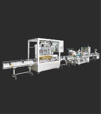 Fully automatic liquid filling line