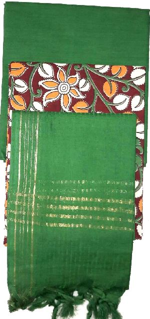 Kalamkari Silk Dress Material