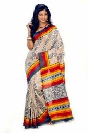 Bengal Tussar Silk Sarees