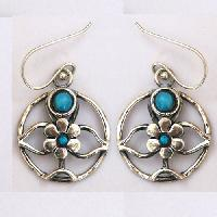 925 Silver turquoise gemstone earring jewelry
