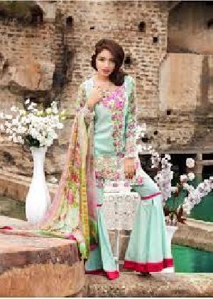 Qalamkar Lawn Pakistani Suit