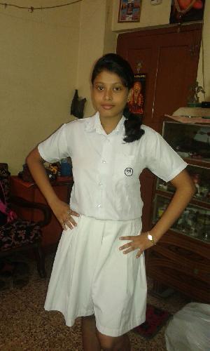 White Shirt Divider Skirt Senior Girls School Uniform