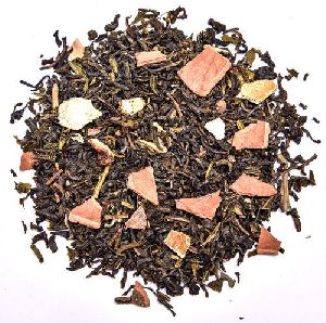 Orange Cinnamon Whole Leaf Green Tea