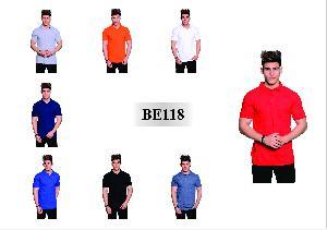 Men's T Shirt Be118 Half Sleeves Plain Polo Neck