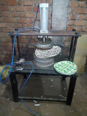 Pneumatic paper plate machine