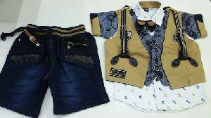 Boys Fashion Half Pant Jacket Set