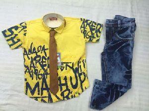 Boys Half Shirt Pant Set