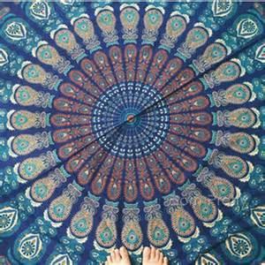 Blue Mandala Wall Hanging Tapestry