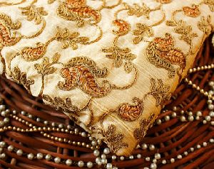 Cotton Silk Embroidery Fabric