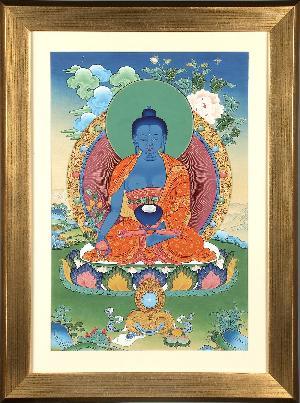 Handpainted Thangka Medicine Buddha painting