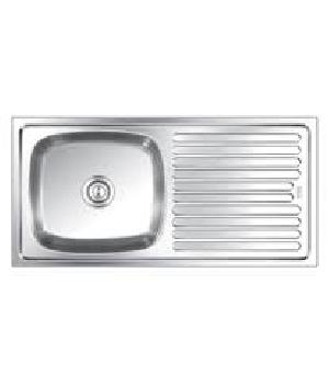 Ss Kitchen Sink Single Bowl With Drain Board