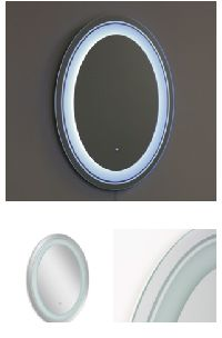 Led Frosted Oval Mirror