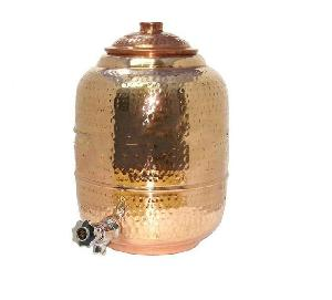 Indian Craftio Copper Hammered Luxury Water Dispenser