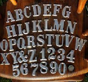Metal Alphabet & Numbers