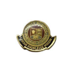Brass Round School Badges