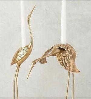Metal Flamingo Sculptures