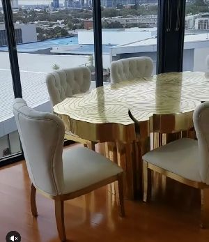 Brass Lacquer Dining Table