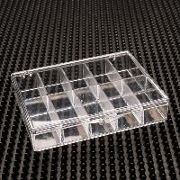 10 Compartment Clear Plastic Boxes