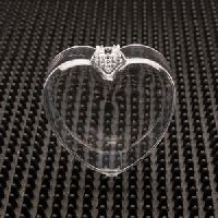 Heart Shaped Clear Plastic Jewelry Boxes