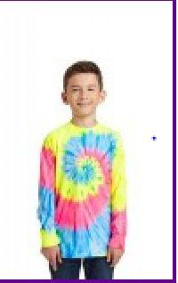 Youth Tie-Dye Long Sleeve T-Shirt